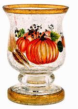 Natures Harvest Crackle Glass Pedestal Votive holder Candle Accessory Home Decor