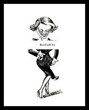 1936-rpt BETTE DAVIS Hollywood Oscar Winner Broadway Actress Caricature MATTED