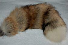 "New Genuine Fox Fur Tail Keychain Fur Tassel Bag Tag Charm HUGE Long Hair 19"""
