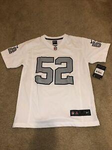Nike Oakland Raiders # 52 Mack NFL Jersey Youth Sz M (10-12) Brand New