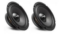 (2) NEW SKAR AUDIO FSX8-8 8-INCH 8 OHM 350W MAX CAR PRO AUDIO SPEAKERS - PAIR
