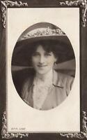 1911 VINTAGE Zena Dare Rotary Photographic Opalette POSTCARD - USED Rockhampton