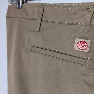 New Red Kap Men's Elastic Waist Work Pants, Khaki NWT