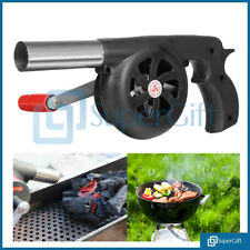 BBQ Grill Fan Bellows Barbecue Fire Air Blower Outdoor Camping Flame Light
