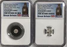 2017 Great Britain 1/20 , 1/40 oz Britannia Silver Proof NGC PF70