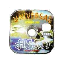 MONOFILO UNIVERSAL ASSO 0,30 MM FILO PESCA 100 MT NEUTRO FISHING LINE SALTWATER