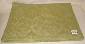 """WATERFORD Westerly Moss Green Placemats  13""""×18""""  NWOT  Lot of 6"""