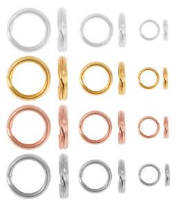Sterling Silver 925 Split Rings Jump Rings * Many Sizes & Platings * Findings