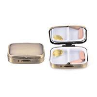 1X Boîte à pilules en métal Organisateur de médicaments Conteneur pour bijOP