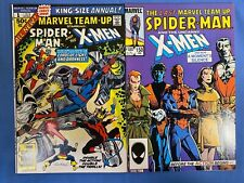 Marvel Team-Up Annual #1 and #150 (1976, 1985) Spider-Man and the X-Men Lot!