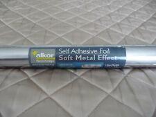 Alkor Shiny Silver Sticky Back Plastic Vinyl Self Adhesive Foil 1.5mx67.5cm New