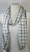 SCARF, CHIFFON,  BLACK COLOR THEME, POLKA DOTS, CHECKS, CHIFFON, HANDMADE