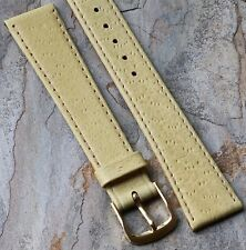 European made vintage watch band pigskin grain leather 18mm unusual color NOS