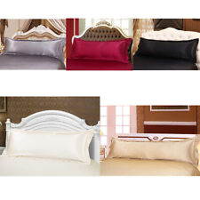 Solid Color Luxury Silk Body Full Long Pillow Pillow Case Cover Pillowcase