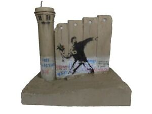 Banksy Defeated FLOWER THROWER & Tower Original Direct From Walled Off Hotel