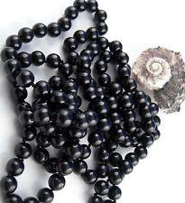 extra lungo collana di Perle Art Deco Stile ANNODATE 168 - 170 cm nero perla