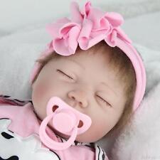 "22"" Handmade Reborn Baby Toy Newborn Lifelike Silicone Vinyl Sleeping Girl Dolls"
