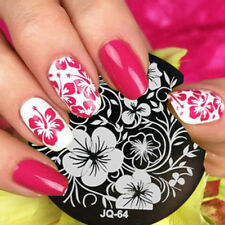 Nail Art Stamping Plates Image Plate Decoration Lace Flowers Floral Roses JQ64