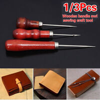 Handle Sewing Accessories Leathercraft Repair Awl Needle Leather Pin Punch Hole