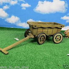 Wooden Push Cart FULLY ASSEMBLED Planter Pot Garden Flowers Bedding Shrub