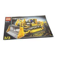 1 x Lego Technic Bauanleitung A4 Heft 3 Model Construction Bulldozer Planierraup