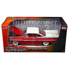 JADA SHOWROOM FLOOR 98898 1959 59 CHEVROLET IMPALA 1/24 WHITE TOP RED