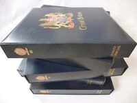 STANLEY GIBBONS GREAT BRITAIN LUXURY 2-PEG ALBUMS, VARIOUS AVAILABLE, EXC COND