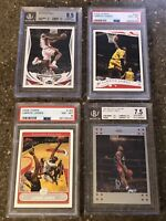 2004-07 Topps/Topps Chrome LeBron James Four Card Set PSA/BGS Graded NM-MT