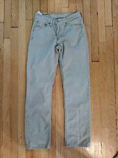 Men's 29x32 Levi's 514 Slim Straight 100% Cotton Khaki Jeans
