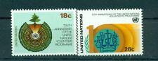 Nations Unies New York 1981 - Michel n. 389/90 -  Programme des Volontaires des