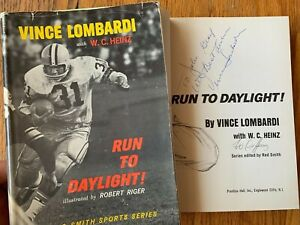 Vince Lombardi Autographed Signed Book Green Bay Packers Run To Daylight 1st