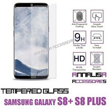 PELLICOLA VETRO TEMPERATO PER SAMSUNG GALAXY S8+ S8 PLUS TEMPERED GLASS NO CURVO