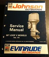 1992 OMC 60 DEGREE LOOP V 150 & 175 HP SERVICE MANUAL NEW  P/N 508146  (304)