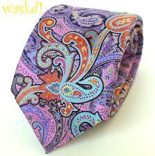 ERMENEGILDO ZEGNA Limited Edition QUINDICI pink/purple PAISLEY silk Tie NWT Auth