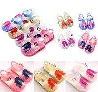 New Kids Girls Summer Beach Jelly Sandals Infant Toddler Casual Flat Shoes Size