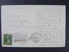Hicks Run Pennsylvania PA 1909 Type 3/1 Doane Cancel DPO 1905-1912 Postcard