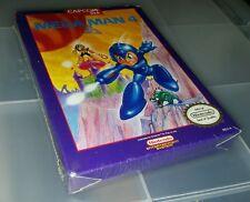 New! mega man 4 Nintendo NES shrink wrapped rip in the plastic