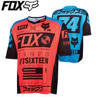 Fox Demo Union DH SS Cycling Jersey 2016 - S M L XL- Neon Red Cyan Blue