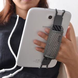 TFY Tablets Non-slip Elastic Hand Strap Holder for 6.5 - 10 inch i Pad, Grey