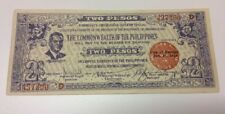 99 Total Philippines Two Pesos Emergency Notes --1942 -- Sequential Serial #s
