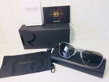 RANDOLPH AF085 AVIATOR Matte Chrome w  Gray 55mm Glass Lenses Suns  219  Retail d69d762fb284