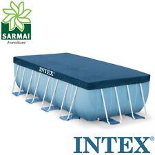 INTEX 28037 TELO COPRIPISCINA COPERTURA COPRI PISCINA FRAME CON TELAIO 400 x 200