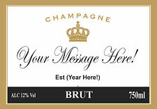 A6 Personalised Champagne Label Cake Topper ICING