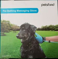 Pet Bathing Grooming Massaging Glove with 3 Faucet Adapters Dogs Outdoor Horses
