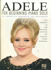 "ADELE ""FOR BEGINNING PIANO SOLO"" PIANO/VOCALS MUSIC BOOK BRAND NEW ON SALE!!"