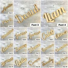 Wooden Personalised Script Names Words Bespoke Letters Plaque Signs MDF & PLY