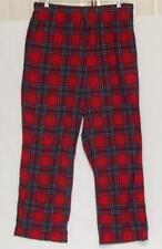 NAUTICA Men's Red Plaid Polyester Pajama Pants Size Large