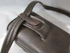 Vintage Brown Leather KODAK Pocket Tote Camera Bag Beautiful in & out #34