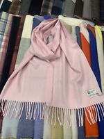 100% Pure Cashmere Scarf | Johnstons of Elgin | Made in Scotland | Light Pink