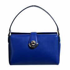 Salvatore Ferragamo Women's Alisa Blue Leather Handbag Bag